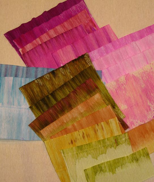 Crepe paper Coloring