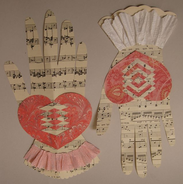 paper crafts: woven heart and hand valentine tutorial…