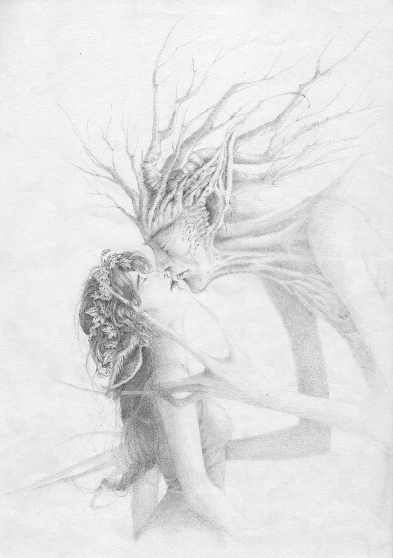 Dryad_and_tree_by_mikhaild